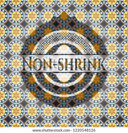 Non-shrink arabesque style emblem. arabic decoration.