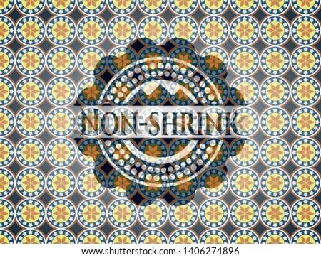 Non-shrink arabic emblem. Arabesque decoration.