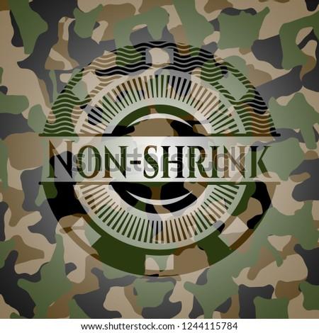 Non-shrink camo emblem