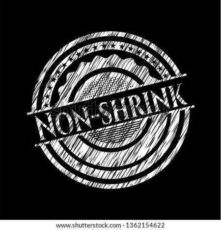Non-shrink chalkboard emblem