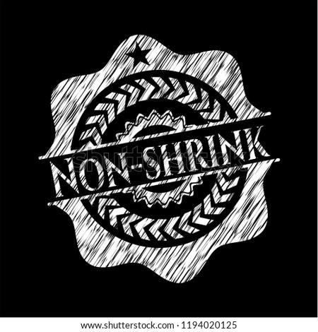 Non-shrink chalkboard emblem written on a blackboard