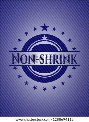 Non-shrink emblem with denim high quality background