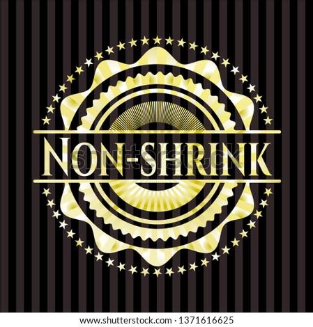 Non-shrink gold emblem