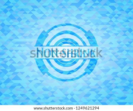 Non-shrink light blue mosaic emblem