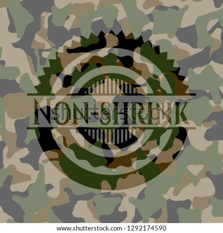 Non-shrink on camo pattern