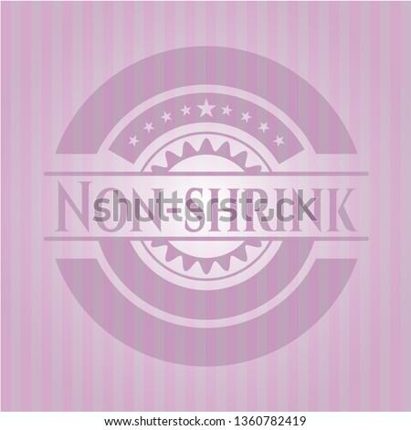 Non-shrink pink emblem