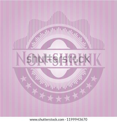 Non-shrink pink emblem. Vintage.