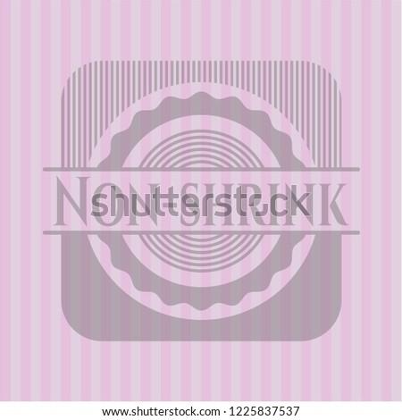 Non-shrink retro pink emblem