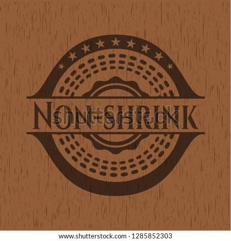 Non-shrink retro wooden emblem