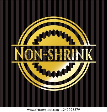 Non-shrink shiny emblem