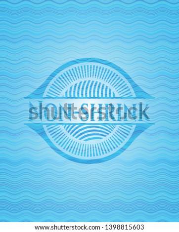 Non-shrink water representation badge. Vector Illustration. Detailed.