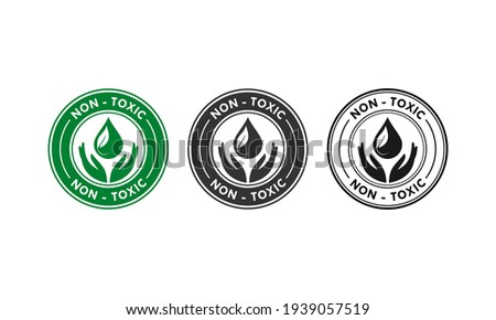 Non toxic design logo template illustration Stock fotó ©