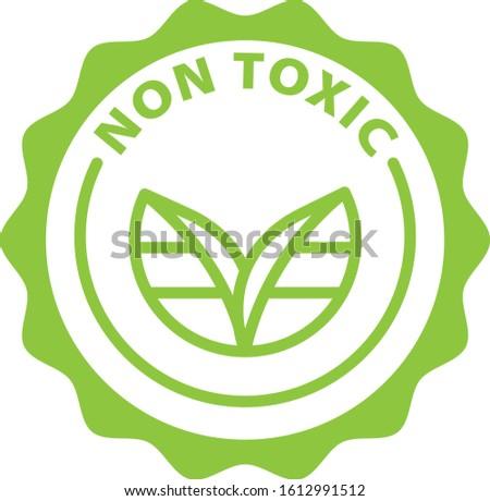 non toxic green outline icon Stock fotó ©