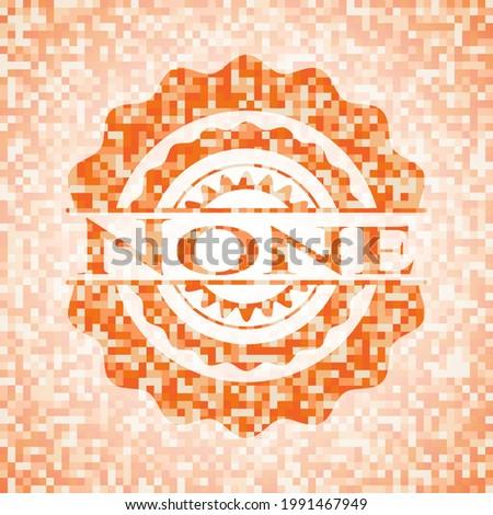 none abstract emblem  orange