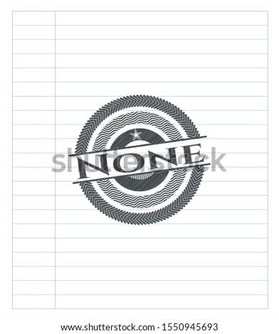 none pencil effect vector