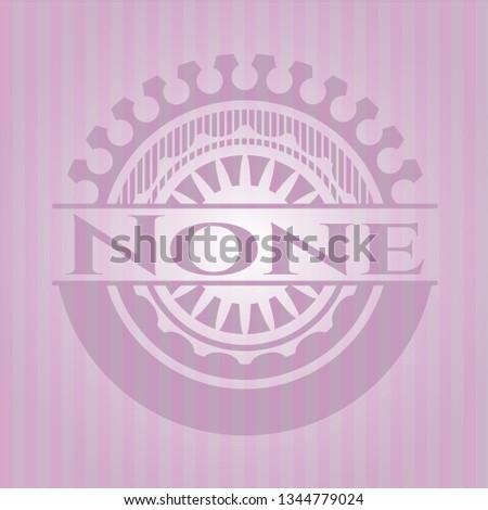 none realistic pink emblem