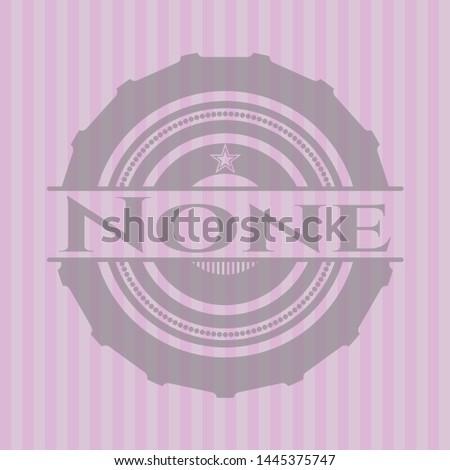 none retro style pink emblem