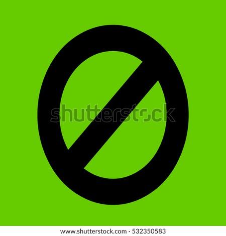 none sign icon
