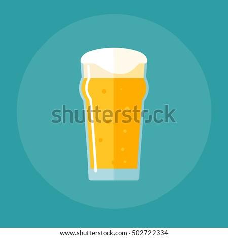nonic pint glass flat icon Stock photo ©