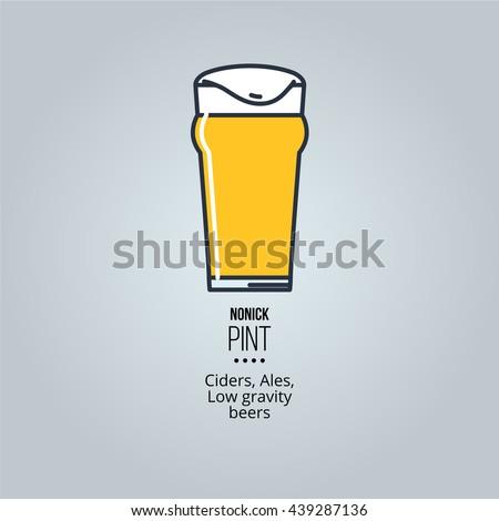 nonic pint glass icon Stock photo ©