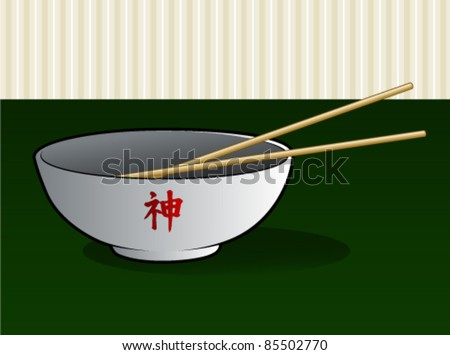 Noodle Bowl with Chop Sticks