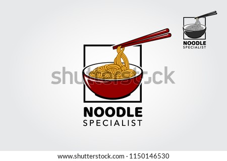 Noodle Specialist logo template, suitable for any business related to ramen, noodles, fast food restaurant, Korean food, Japanese food or any other business related.
