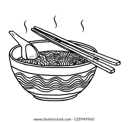 noodles bowl   cartoon vector