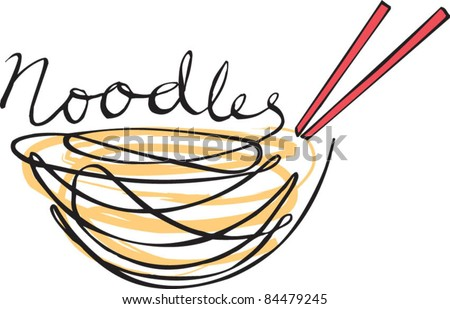 Noodles hand written type