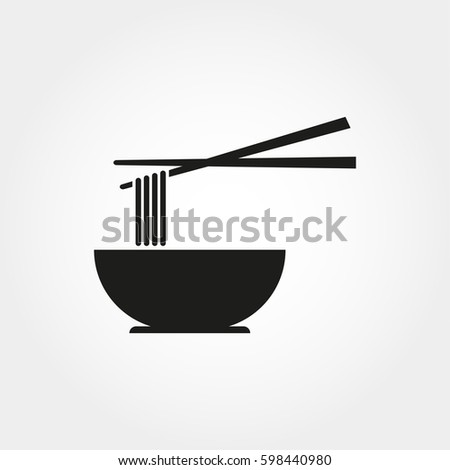 noodles icon in a simple style