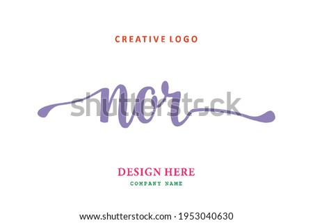 NOR lettering logo is simple, easy to understand and authoritative Stock fotó ©