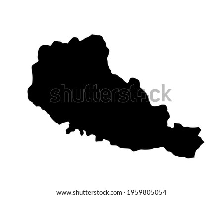 Nord Pas De Calais vector map silhouette illustration isolated on white background. France region. French province map. North Calais map. Photo stock ©