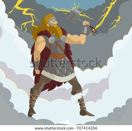 nordic mythology thor god of