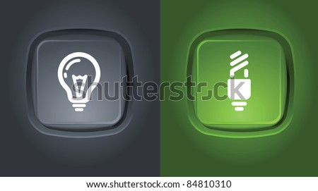 normal and saver lightbulb icons on buttons