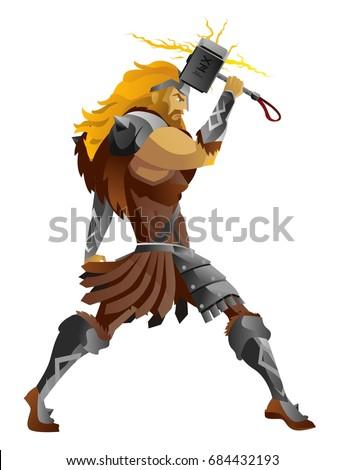 norse mythology thor holding
