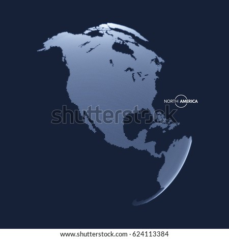north america earth globe