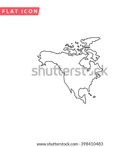 North America Icon Vector.