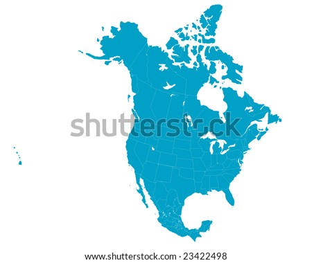 North America Map Vector Download Free Vector Art Stock - Us and canada vector map