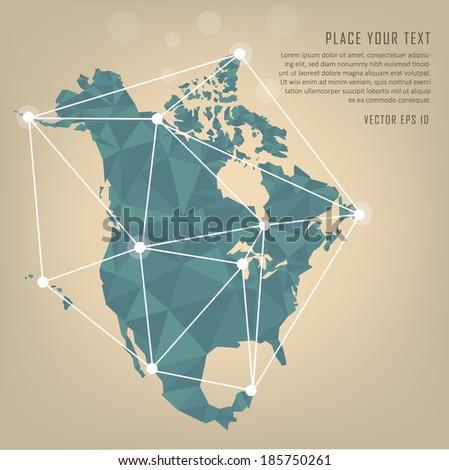 North America vector map