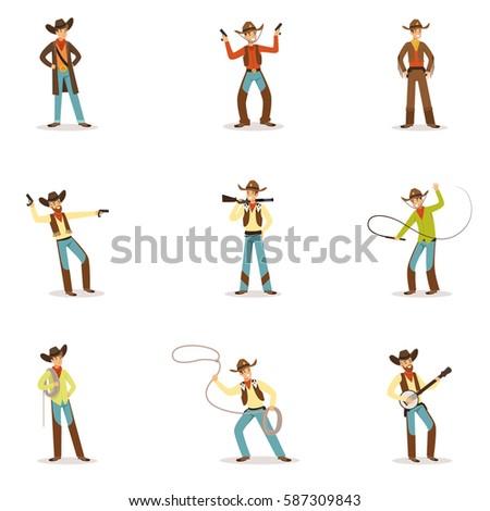 north american cowboy with