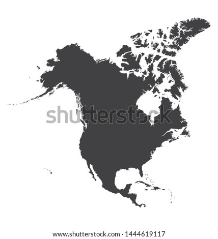North American map that split ratio harshest perfectly