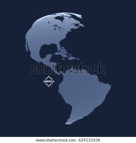 north and south america earth