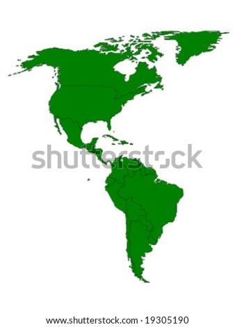 north and south america green ecology vector illustration