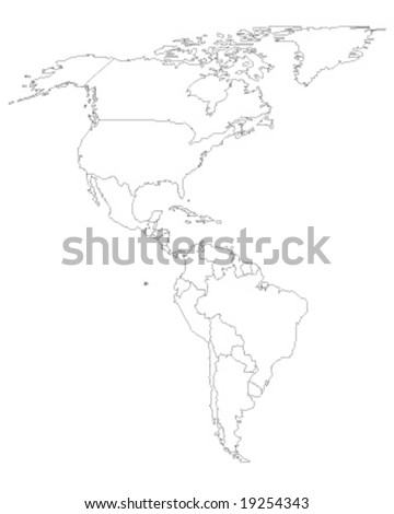 north and south america map vector illustation - ecology green series