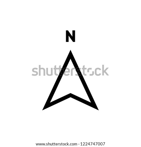 North Arrow icon vector