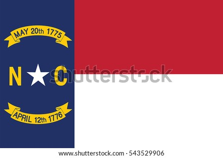 North Carolina Flag, USA. Vector Format