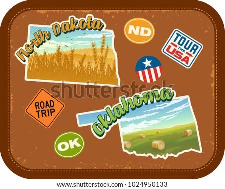 north dakota  oklahoma travel
