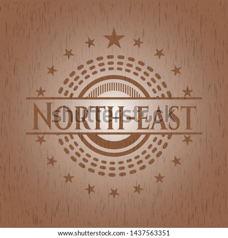 North-east wood signboards. Vector Illustration.