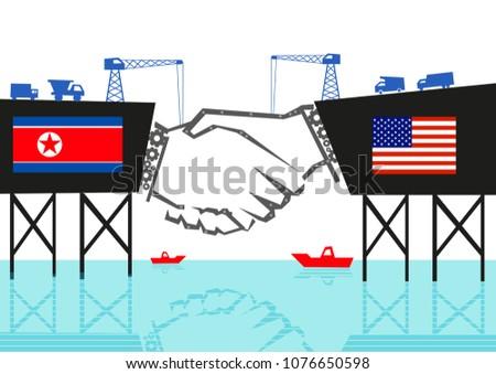 north korea and usa handshake