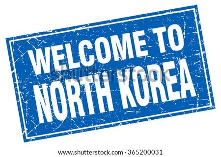 north korea blue square grunge