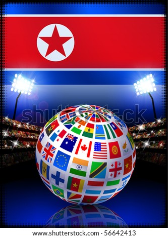 north korea flag meaning. stock vector : North Korea